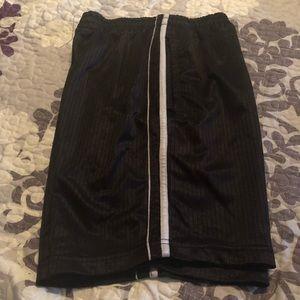 Black and white teen sport short